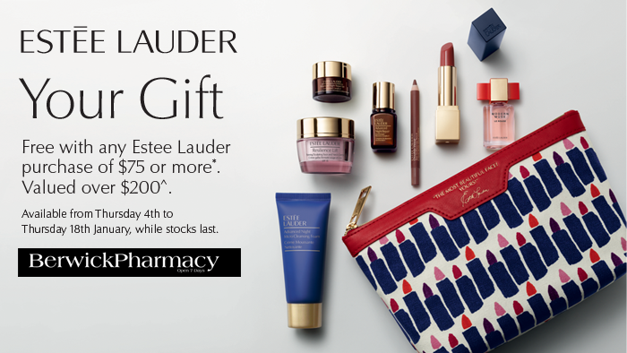 Estee Lauder GWP Jan 2018 Berwick Pharmacy